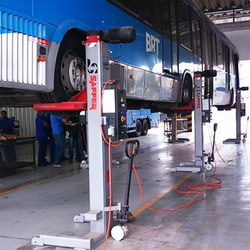 Coluna de Elevação para Manutenção de ônibus Preço Rondônia - Coluna de Elevação para Caminhões