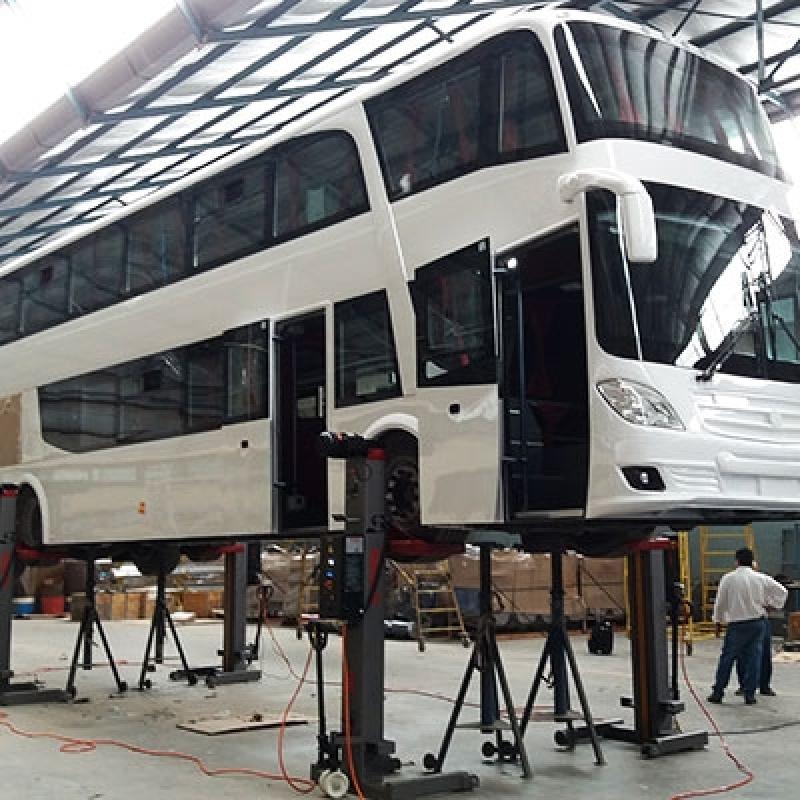 Coluna de Elevação para Manutenção de ônibus Erechim - Coluna de Elevação Automotivas
