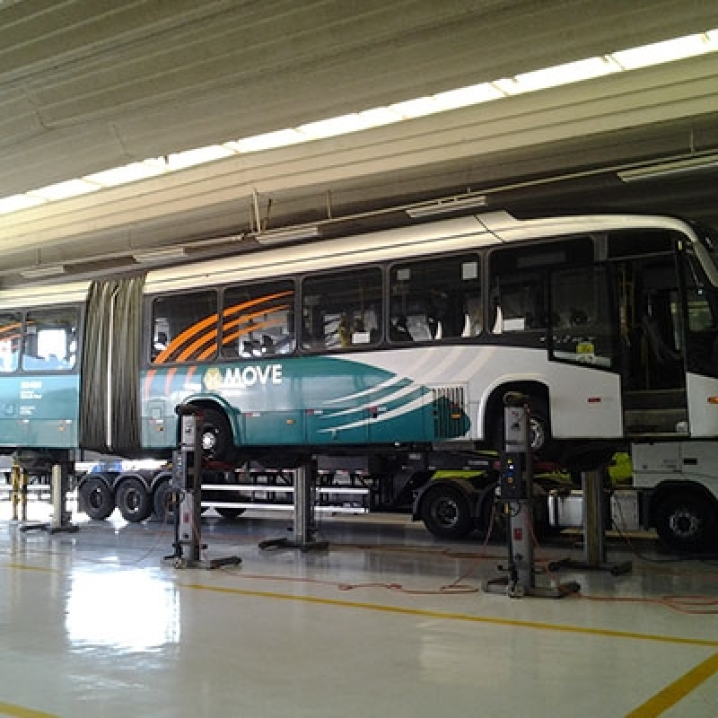 Coluna Móvel de Elevação para ônibus Articulado e Bi-articulado Ourinhos - Coluna Móvel de Elevação para Manutenção