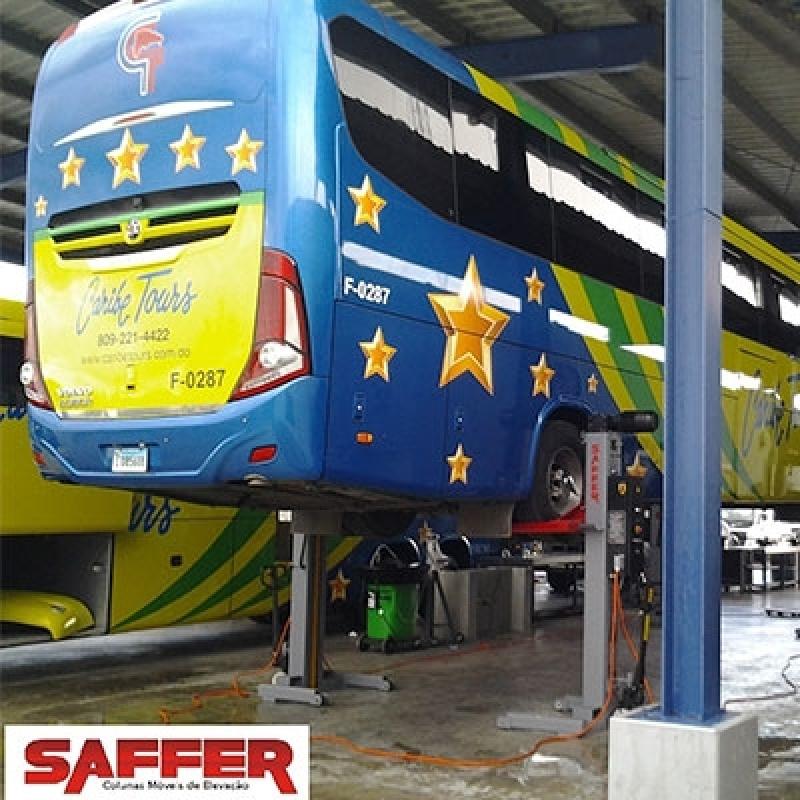 Colunas de Elevação para Manutenção de Veículos São Caetano do Sul - Coluna de Elevação ônibus
