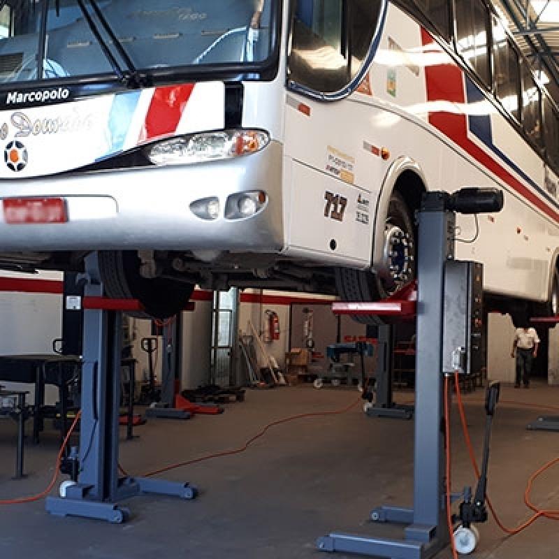 Custo para Coluna de Elevação para Manutenção de ônibus Corumbá - Coluna de Elevação ônibus