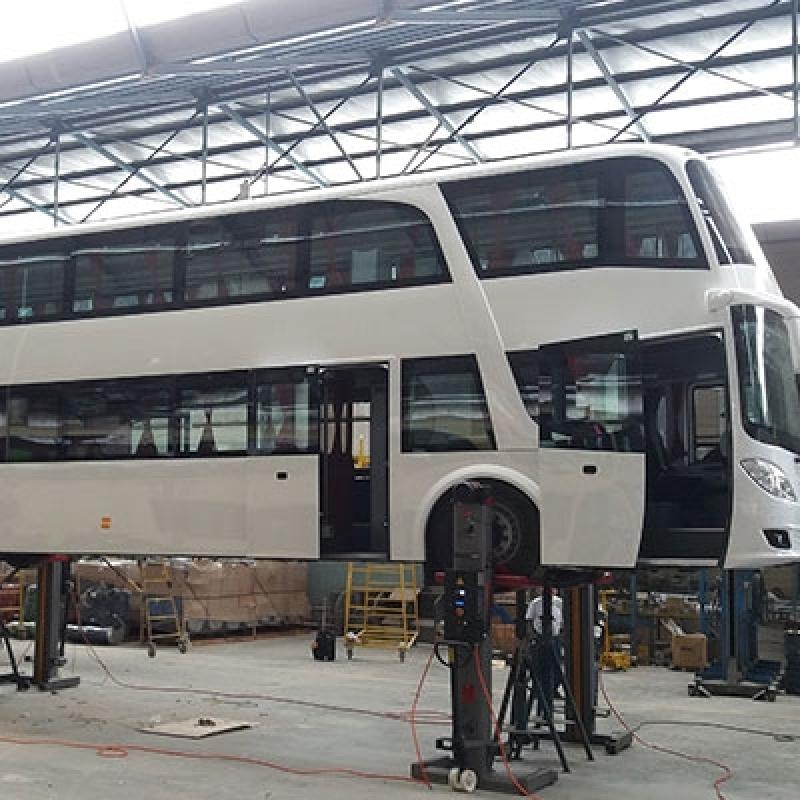 Elevador Automotivo Coluna Móveis para Veículos Pesados Feira de Santana - Elevador Automotivo Portátil
