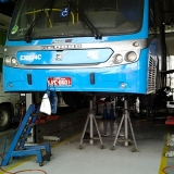 cavalete de apoio ônibus Cuiabá