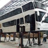 coluna de elevação ônibus Santos