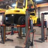 coluna de elevação para manutenção de empilhadeira
