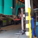 Coluna de Elevação para Manutenção de ônibus