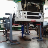 coluna móvel de elevação caminhões