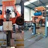 coluna móvel de elevação para manutenção de empilhadeira
