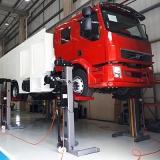 coluna móvel de elevação para fabricação de viatura