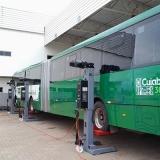 coluna móvel de elevação para ônibus articulado e bi-articulado